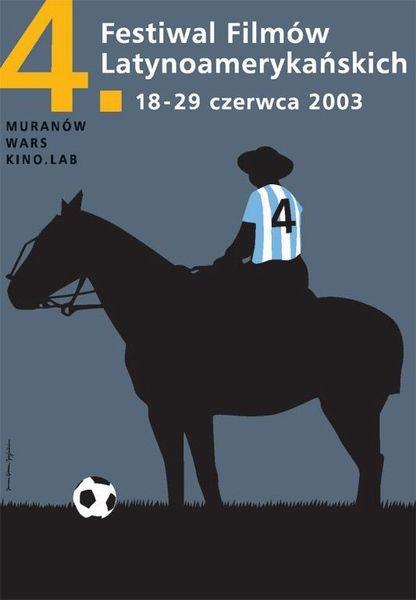Homework Joanna Gorska Jerzy Skakun, '4 Latin American Film Festival' - Polish Poster, 2003