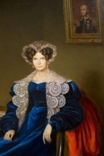 Portrait of Queen Wilhelmina of Prussia, mother of King  Willem II, by Jean-Baptiste van der Hulst