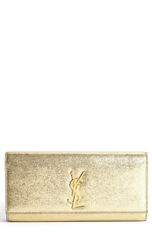 Pure Beauty by Saint Laurent. Gold Clutch.