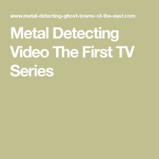 Metal Detecting Video The First TV Series