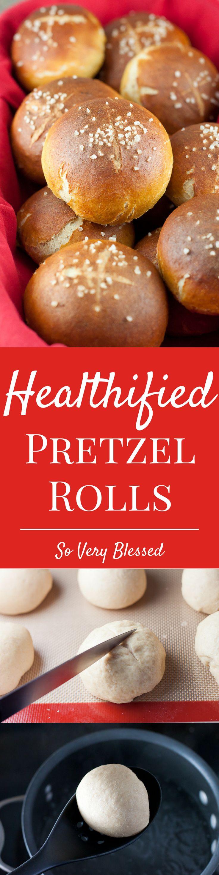 Healthier Pretzel Rolls Recipe - So Very Blessed