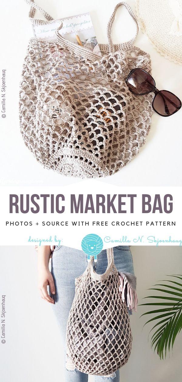 Crochet Market Bags Free Patterns