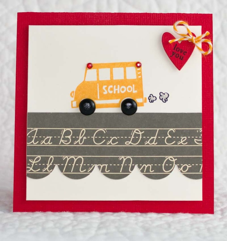 52 best Card Making: School Themes images on Pinterest | Cards ...