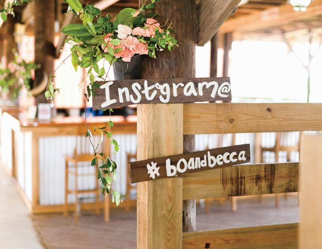 Instagram hashtag to make wedding social ways to wow your wedding guests