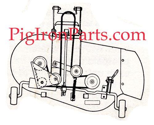 Image result for bolens mower deck belt routing | Jakes