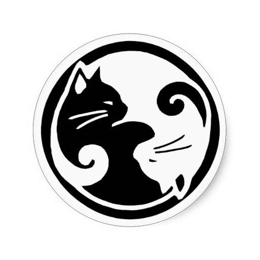 De Stickers van de Katten van Yang van Yin