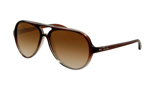Ray Ban RB4125 Cats Sunglasses Brown Frame Brown Gradient Lens