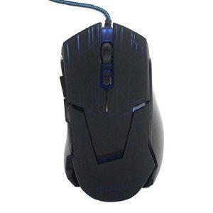 Chianrliu 3200dpi 6 Bouton Conduit Souris Filaire Optique Pour Jeu De Pc Portable, Optical Wired Mouse, Bleu