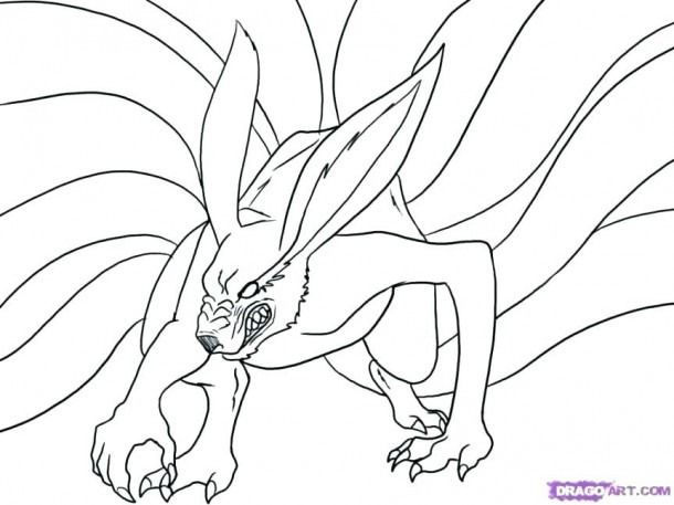 Good Looking Naruto Nine Tailed Fox Coloring Pages ...