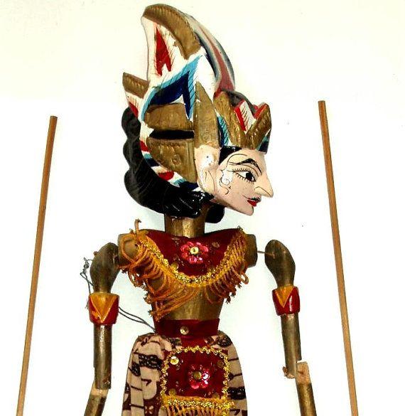 VINTAGE PUPPET INDONESIA Java folk art Wayang Golek by #LizAArt, $90.00 #aweteam #firstfridayartwalk
