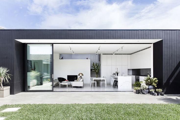 Black exterior, white interior
