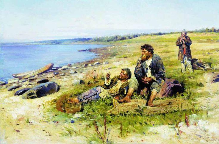 «На Волге», 1897, Государственная Третьяковская галерея В.Е.Маковский