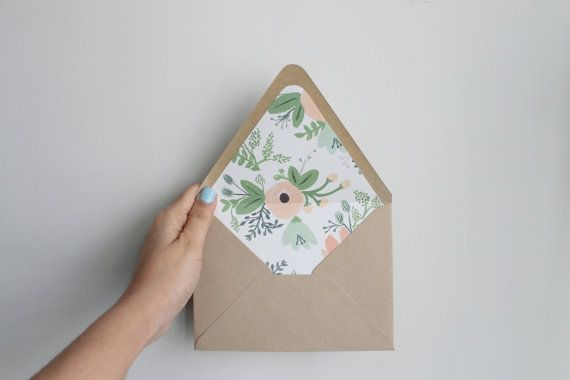 Floral Envelope Liners by wakhtarrr on Etsy, $0.80