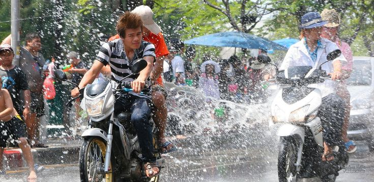 Songkran - New Year's with Water Battles instead of Snowball Fights