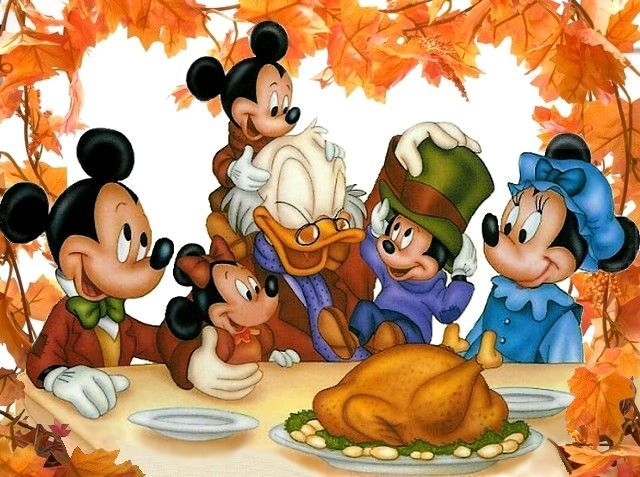 Thanksgiving Dinner Scrooge McDuck & Mickey Mouse Family
