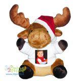 Crea un simpaticissimo peluche che raffigura una renna natalizia con la t-shirt stampata con la tua foto preferita!