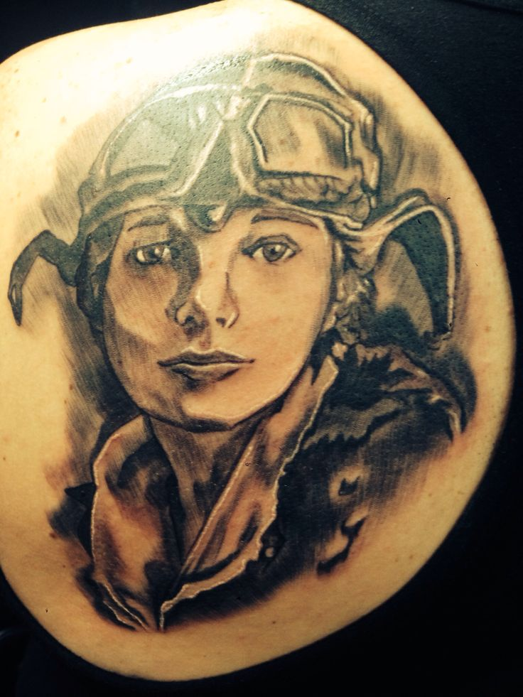 amelia earhart tattoo by lance grube my style pinterest i will i will have and amelia earhart. Black Bedroom Furniture Sets. Home Design Ideas