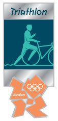 London 2012 Olympics Triathlon Pictogram Pin