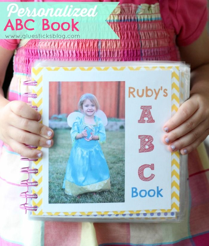 ABC photo book, personalized with your toddler's favorite things! My 2 year old adores her book that we made!