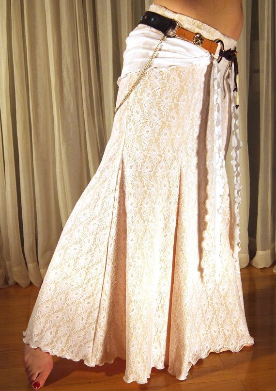 Mermaid skirt - YOUR SIZE - White lace