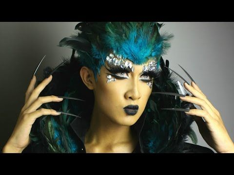 Peacock Queen: Makeup Tutorial   NYX Canada #FromEHtoLA Competition 2016 - YouTube
