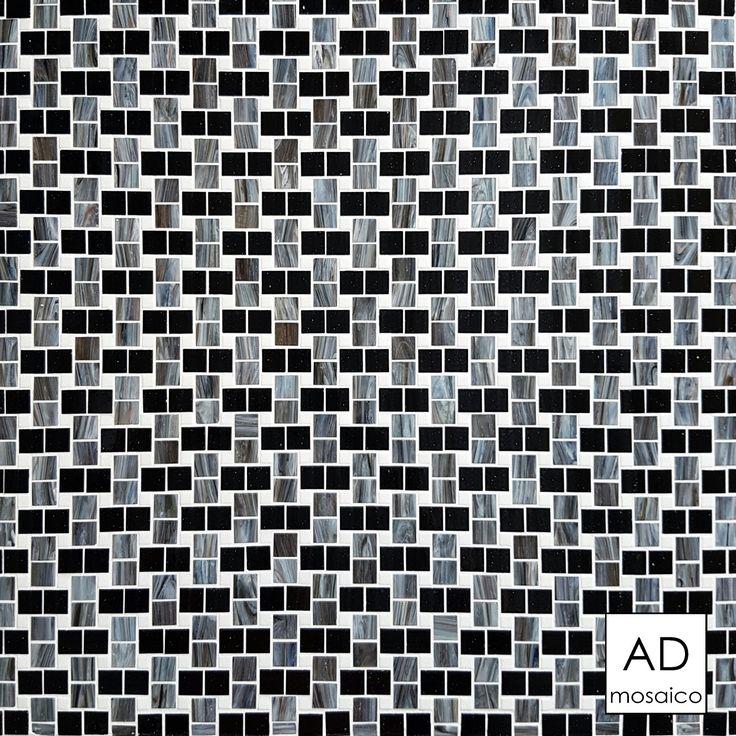 Decoro INTRECCIO NERO Mosaico 10x10 e 20x20  info@admosaico.com
