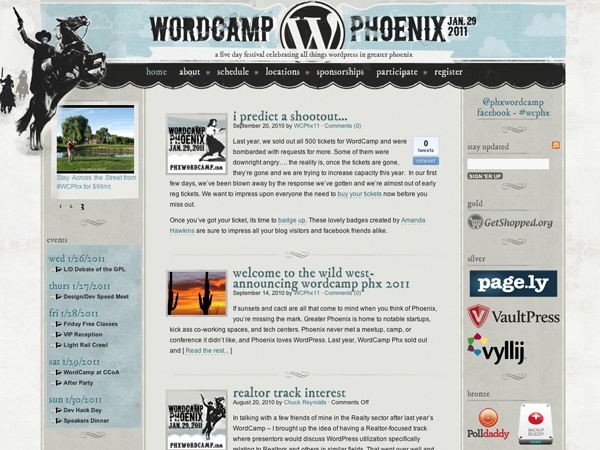 http://phxwordcamp.com/ - WordCamp Phoenix 2011, a five day festival celebrating all things wordpress in greater Phoenix