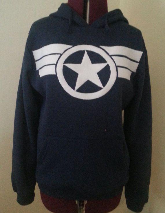 Captain America, Commander Steve Rogers Secret Avengers Hoodie Pullover.