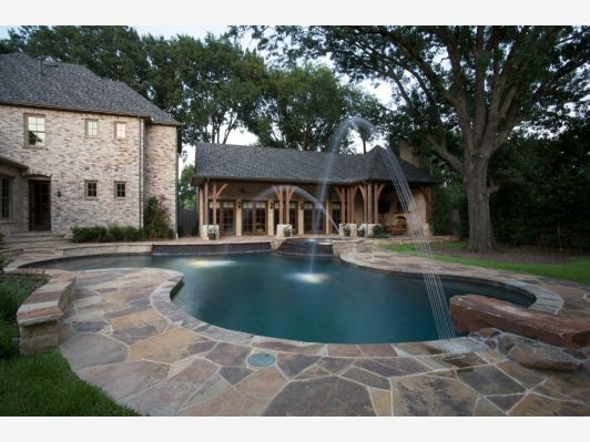 master pools guild residential pools and spas freeform gallery home and garden design backyard - Backyard Designs With Pool And Outdoor Kitchen