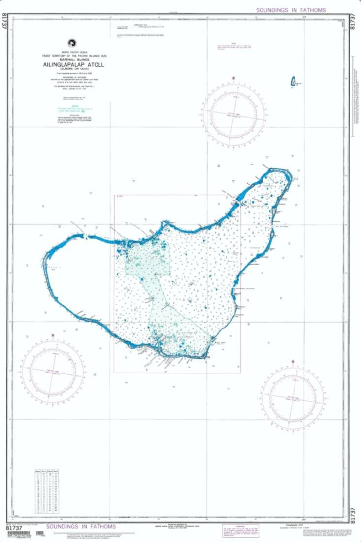 Ailinglapalap Atoll (Marshall Islands) Nautical Chart (81737) by National Geospatial-Intelligence Agency