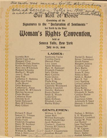 best women s suffrage movement artifacts images  first women s rights convention