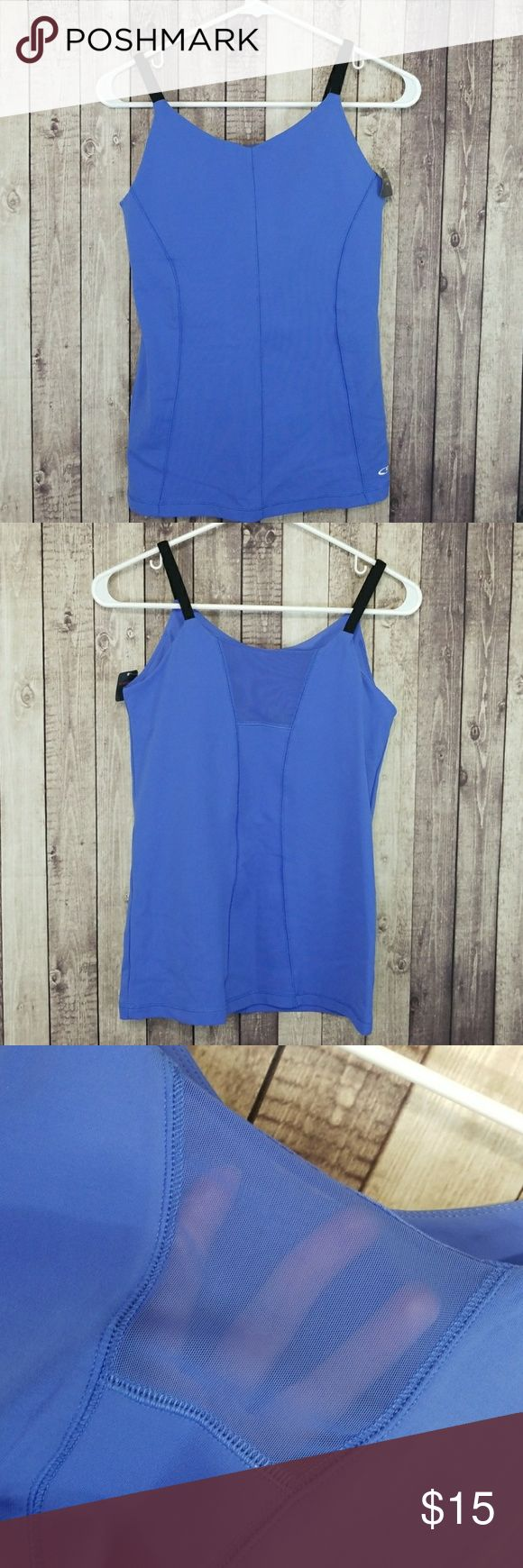 """C9 by Champion workout tank Brand new with removable cup tag attached. C9 by Champion purple/blue-ish workout tank with bra and removable cups. Nylon and spandex blend. Lay flat measurements: approximately 15"""" pit to pit, 24"""" long. Champion Tops Tank Tops"""