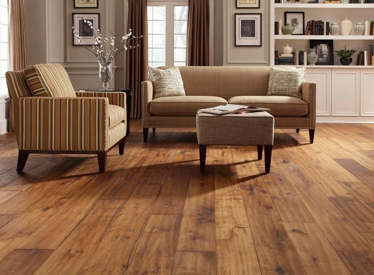 Best Vinyl Wood Flooring For Home Interior Design: Accent Armchair And  Ottoman With Loveseat Also