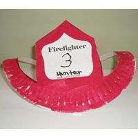 Paper Plate Craft - Community Helpers Unit - Fireman's hat