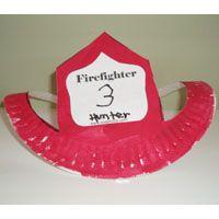 Paper Plate Craft - Community Helpers Unit - Fireman's hat