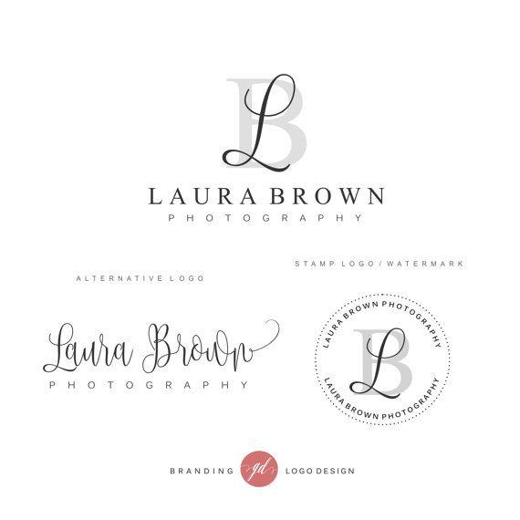 Photography logo package, Premade Initials logo, Branding Kit, Blog logo design, Watermark, Stamp, Custom business package, Logo package, 47
