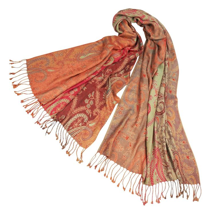 Gentle sundown-colored scarf settles around your neck in lightweight viscose fabric with fringe. The power loom industry in Punjab, where this product is made, is largely unregulated and dominated by large factories. This product, however, is sourced from a small, family-owned business that pays close attention to worker well-being. All of the dyeing is done in-house, and there is an effluent treatment plant to ensure proper treatment and disposal of wastewater and chemicals.