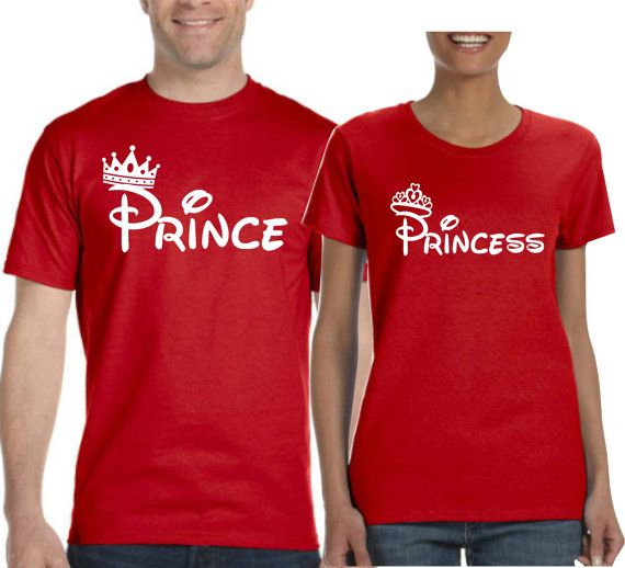 Prince and Princess T-shirt. Couple T-shirts. Prince and Princess Tshirts.  2 t-shirts Included. for him. for her. Valentines T-shirts