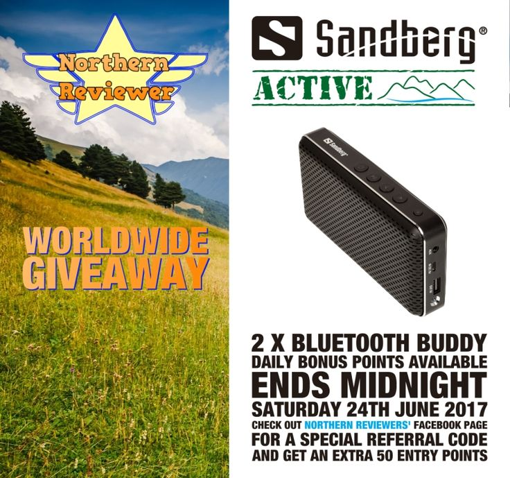 #WIN #GIVEAWAY - @Sandberg ACTIVE WorldWide Giveaway with @Northreviewer 2x Bluetooth Buddies