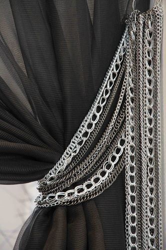 Beautiful chain tie backs