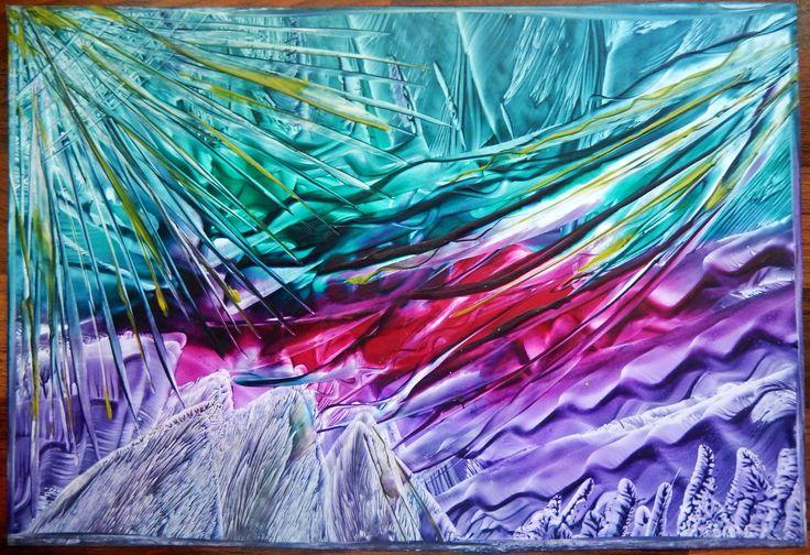 Hrátky s barvami II, enkaustika