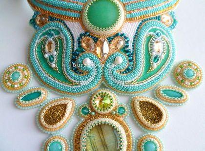 Seturi de bijuterii lucrate manual.  Masters Corecte - manual.  Cumpăra Pachetul 006. Handmade.  Turcoaz, castravete oriental, Labrador