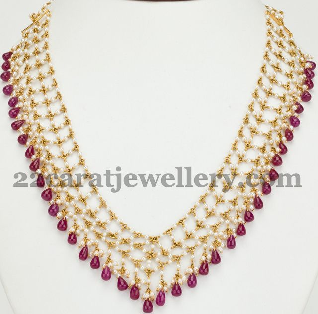 Pearls and Ruby Drops