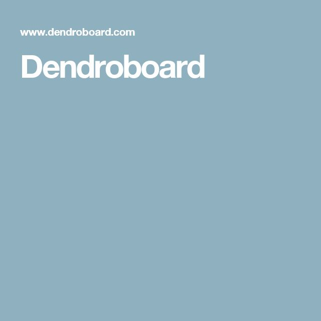Dendroboard