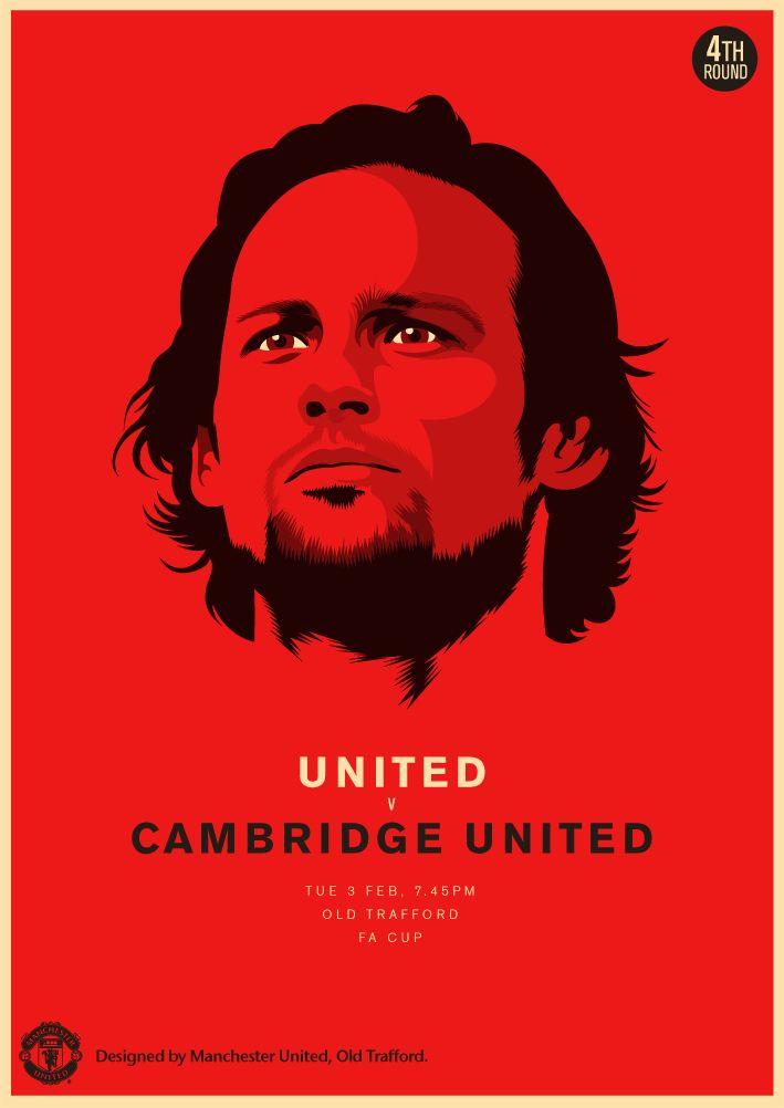 Match poster. Manchester United vs Cambridge United, 3 February 2015. Designed by @Manchester United.