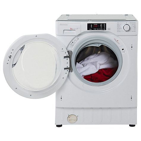 Buy Hoover HBWM814D Integrated Washing Machine, 8kg Load, A    Energy Rating, 1400rpm Spin, White Online at johnlewis.com