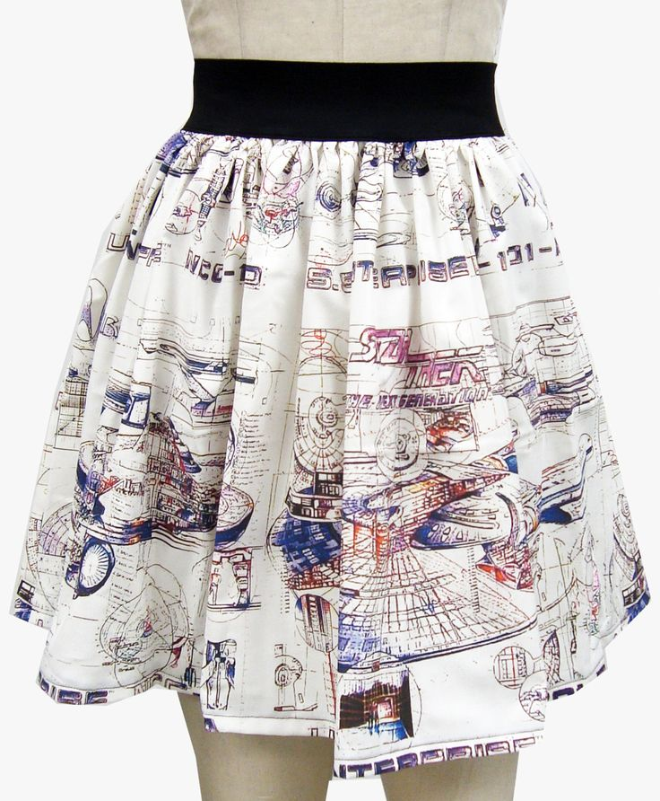 Star Trek Enterprise Draft Full Skirt  It's so pretty! I'm always so pleased to see my fabrics grow up, leave the nest, meet someone new and transform into something so beautiful!