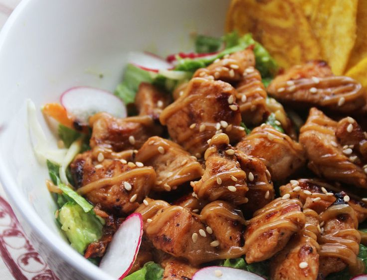 Ensalada Chicken Satay