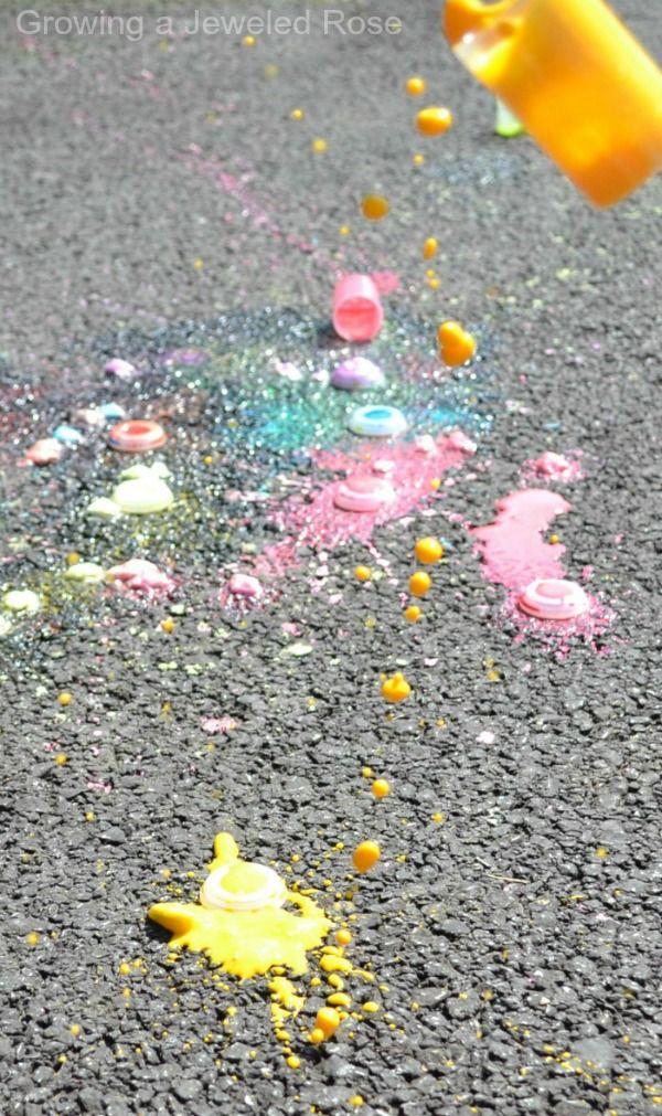 Summer Fun - Chalk Rockets ~ Growing A Jeweled Rose