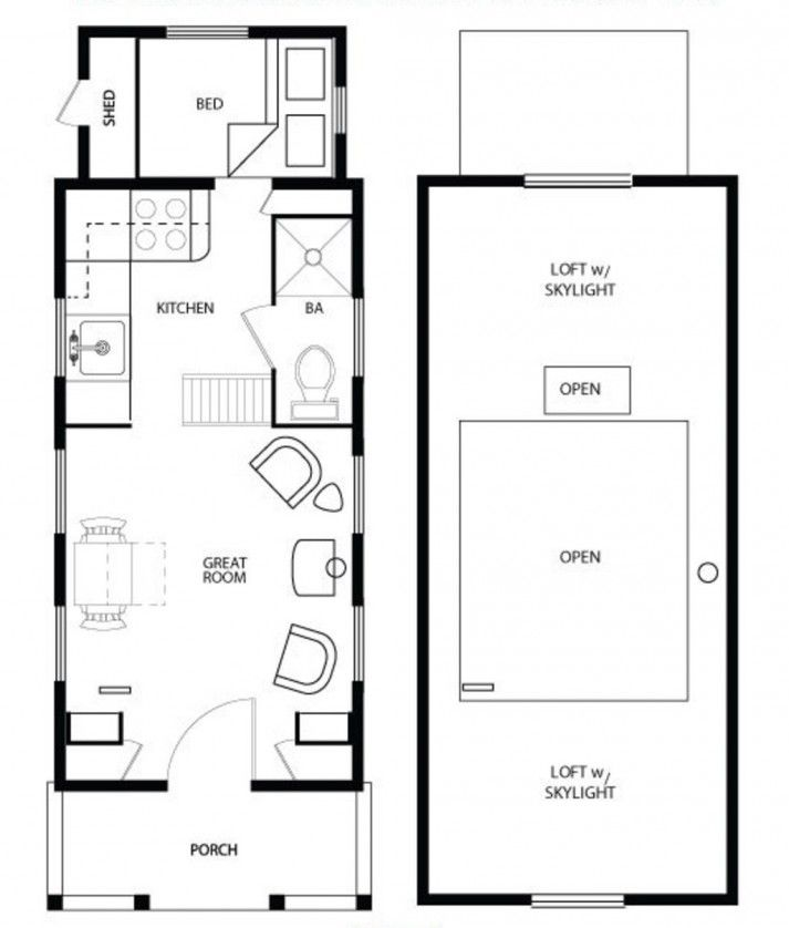 diy inspiration living large in a tiny house small house floor planscottage - Cottage Floor Plans
